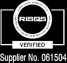 RISQS - Railway Industry Supplier Qualification Scheme - Supplier No. 061504